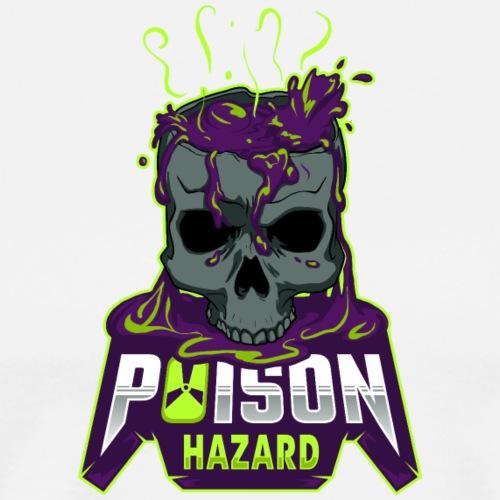 Poison Hazard Text Logo - Men's Premium T-Shirt