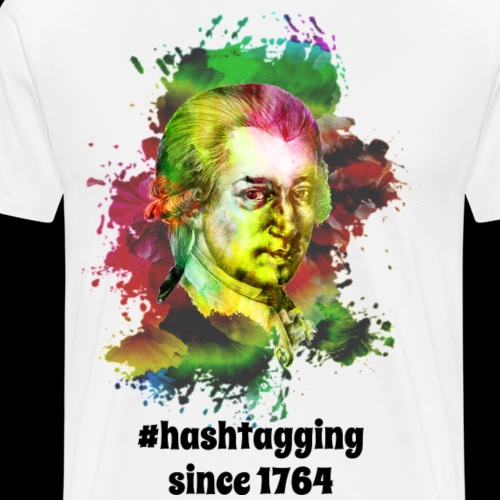 Hashtagging Since 1764 | Sharp Classical Music - Men's Premium T-Shirt