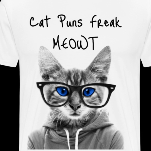 Cat Puns Freak MEOWt - Men's Premium T-Shirt