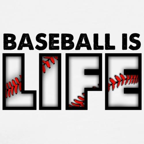 Baseball is life logo - Large - Men's Premium T-Shirt