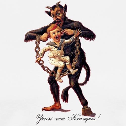 Gruss vom (Greetings From) Krampus - Men's Premium T-Shirt