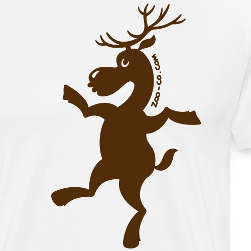 Christmas Reindeer Exercising - Men's Premium T-Shirt
