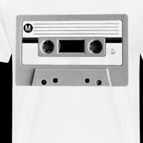 Destroyed Retro Cassette | Add Your Own Text - Men's Premium T-Shirt