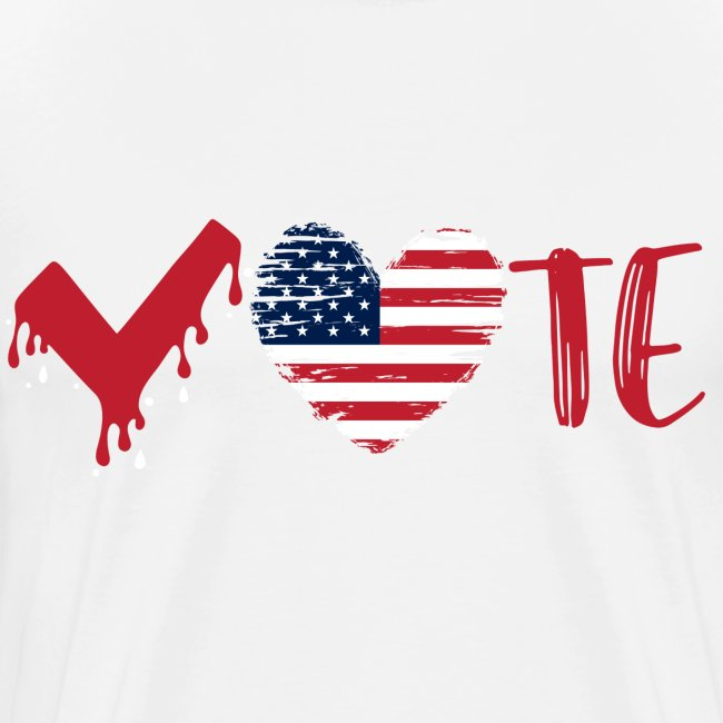 vote heart red
