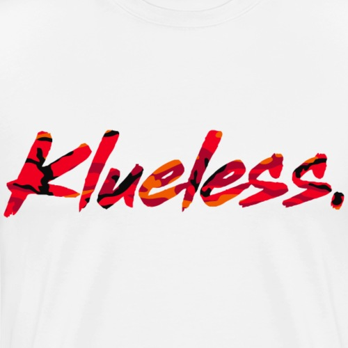 Klueless Logo.RED Edition - Men's Premium T-Shirt