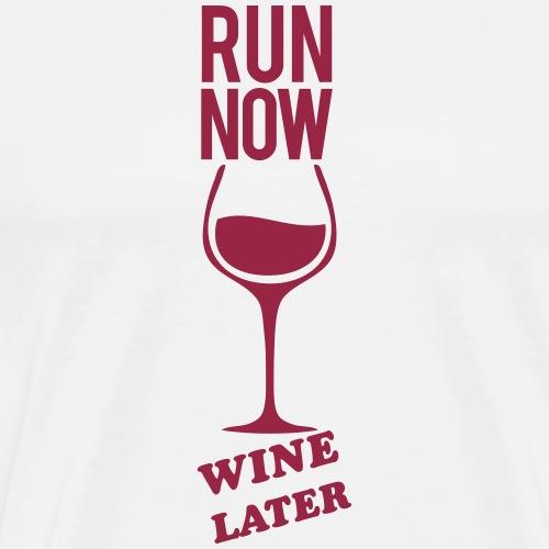 Run Now Gym Motivation - Men's Premium T-Shirt
