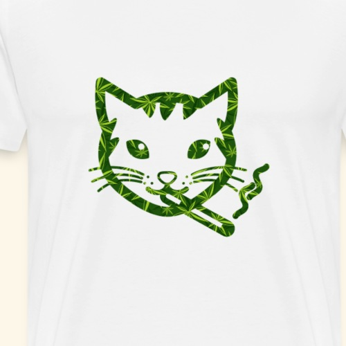 Smoking Cat Design - Men's Premium T-Shirt