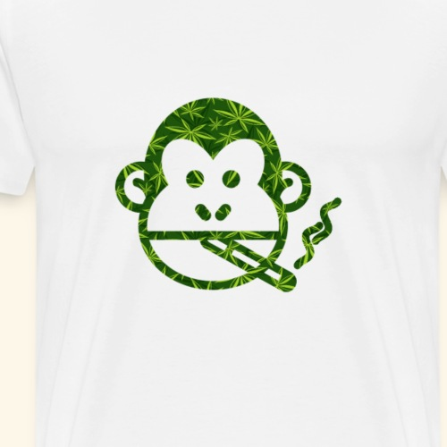 Monkey Smoking - Men's Premium T-Shirt