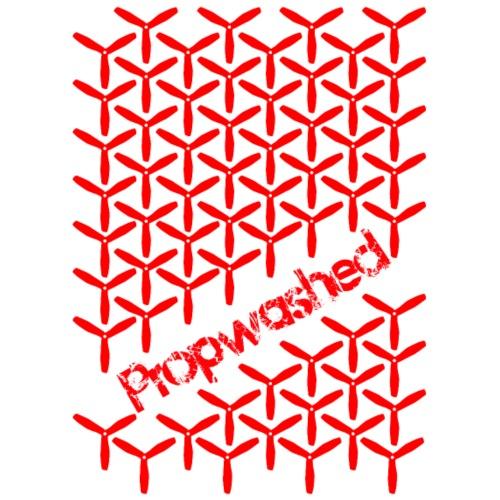 Propwashed Prop Pattern (Red-Red) - Men's Premium T-Shirt