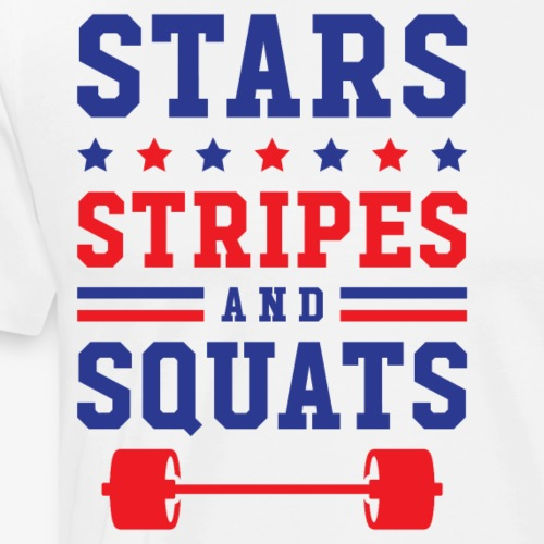 Stars, Stripes And Squats - Men's Premium T-Shirt
