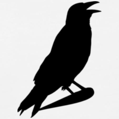 Crow Silhouette Shirt - Men's Premium T-Shirt