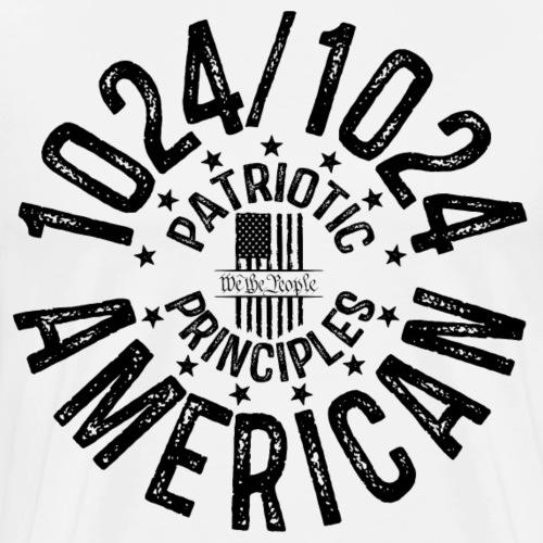 OTHER COLORS AVAILABLE 1024 AMERICAN BLACK - Men's Premium T-Shirt
