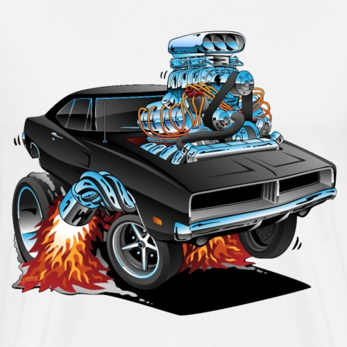 Classic 69 American Muscle Car Cartoon - Men's Premium T-Shirt