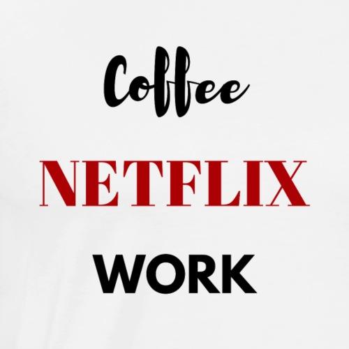 NETFLIX coffee - Men's Premium T-Shirt