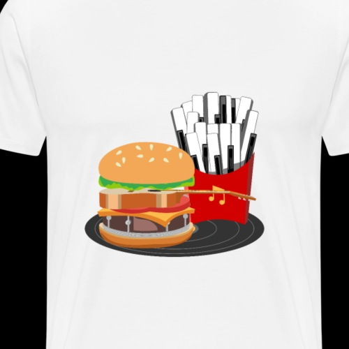 Fast Food Rocks - Men's Premium T-Shirt