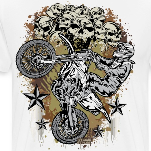 Motocross Mud Skulls - Men's Premium T-Shirt