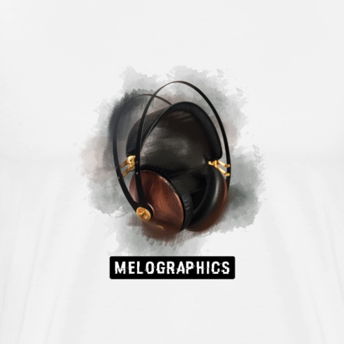 Melographics Headphones - Men's Premium T-Shirt