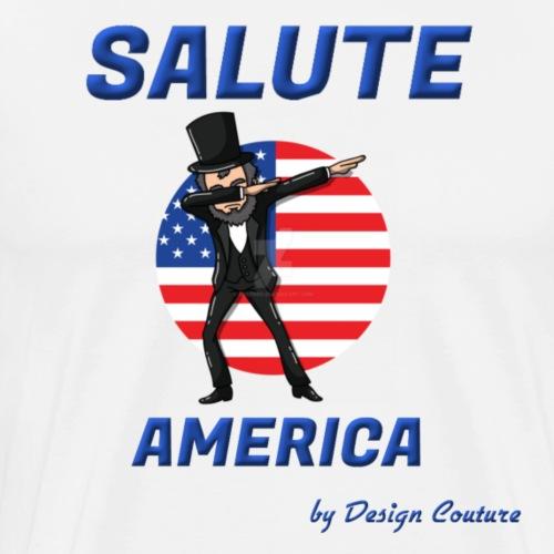 SALUTE AMERICA BLUE - Men's Premium T-Shirt
