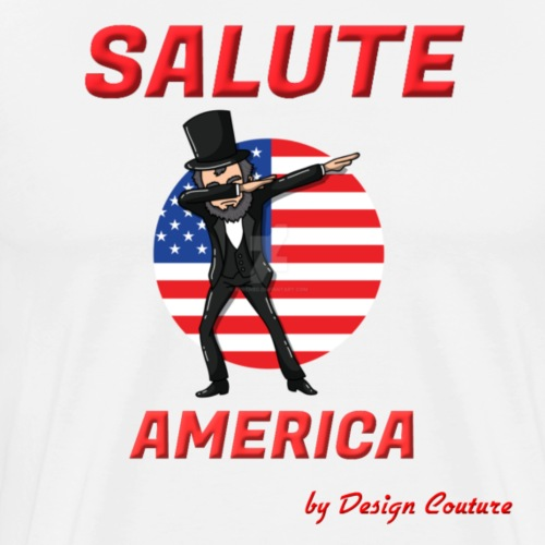 SALUTE AMERICA RED - Men's Premium T-Shirt