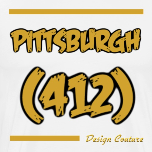 PITTSBURGH 412 GOLD - Men's Premium T-Shirt
