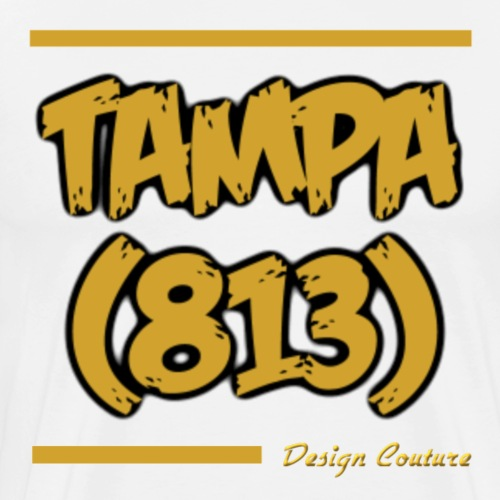 TAMPA 813 GOLD - Men's Premium T-Shirt