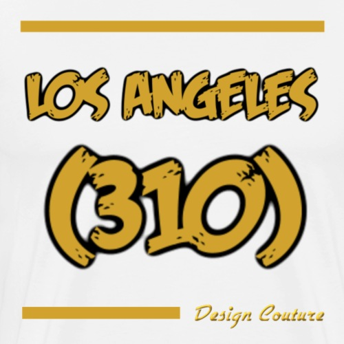 LOS ANGELES 310 GOLD - Men's Premium T-Shirt
