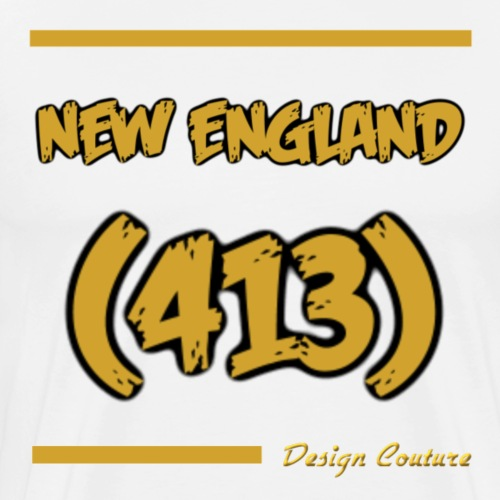 NEW ENGLAND 413 GOLD - Men's Premium T-Shirt