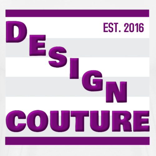 DESIGN COUTURE EST 2016 PURPLE - Men's Premium T-Shirt