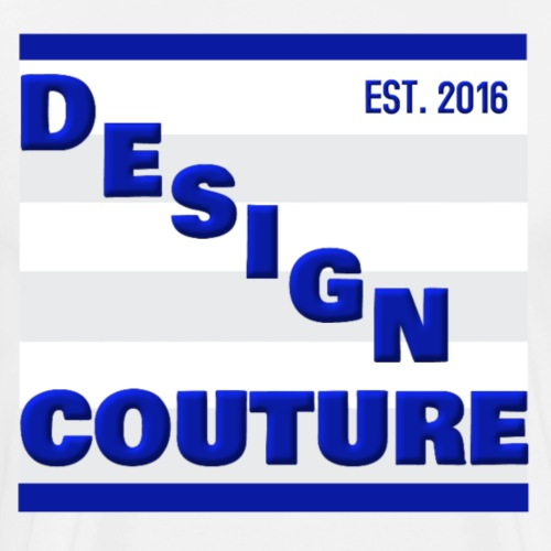 DESIGN COUTURE EST 2016 BLUE - Men's Premium T-Shirt
