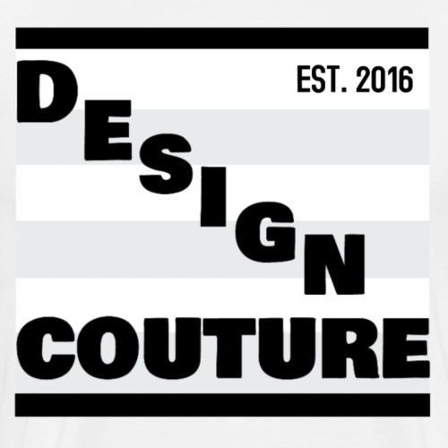DESIGN COUTURE EST 2016 BLACK - Men's Premium T-Shirt