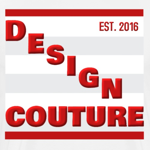 DESIGN COUTURE EST 2016 RED - Men's Premium T-Shirt