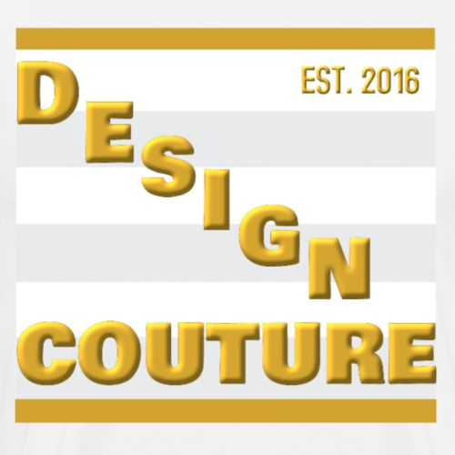 DESIGN COUTURE EST 2016 GOLD - Men's Premium T-Shirt