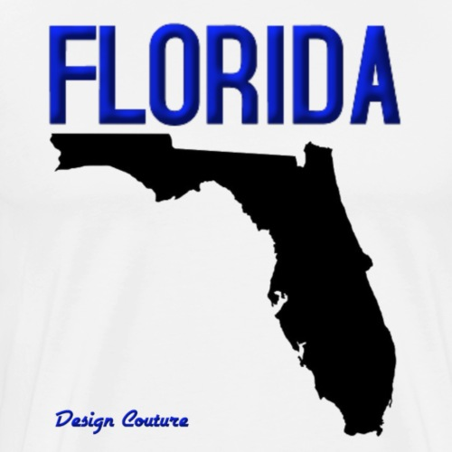 FLORIDA REGION MAP BLUE - Men's Premium T-Shirt