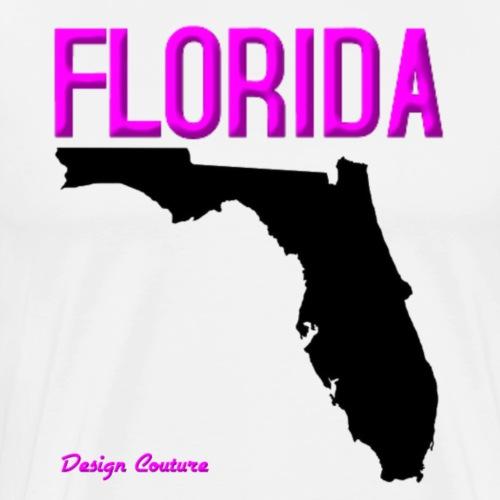 FLORIDA REGION MAP PINK - Men's Premium T-Shirt