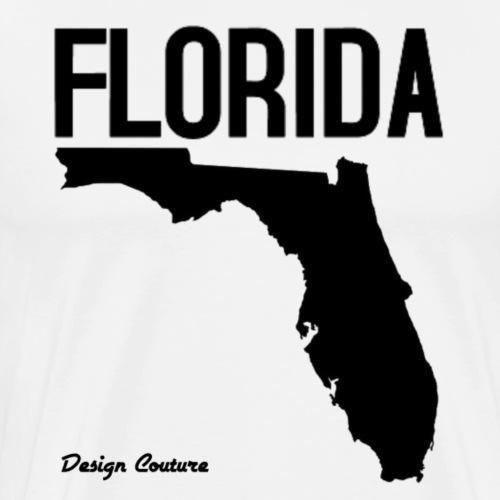 FLORIDA REGION MAP BLACK - Men's Premium T-Shirt