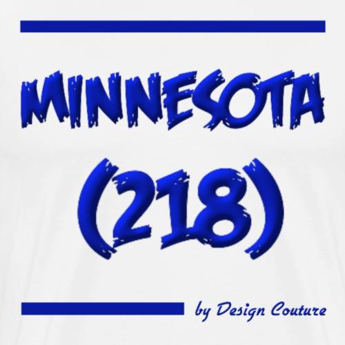 MINNESOTA 218 BLUE - Men's Premium T-Shirt