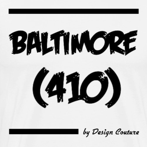 BALTIMORE 410 BLACK - Men's Premium T-Shirt