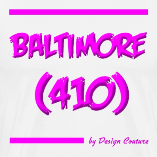 BALTIMORE 410 PINK - Men's Premium T-Shirt