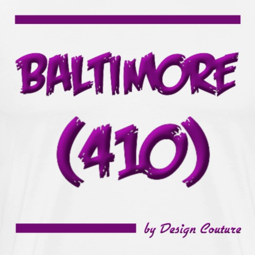 BALTIMORE 410 PURPLE - Men's Premium T-Shirt