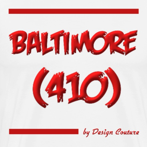BALTIMORE 410 RED - Men's Premium T-Shirt
