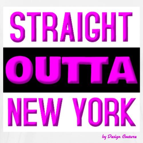 STRAIGHT OUTTA NEW YORK PINK - Men's Premium T-Shirt