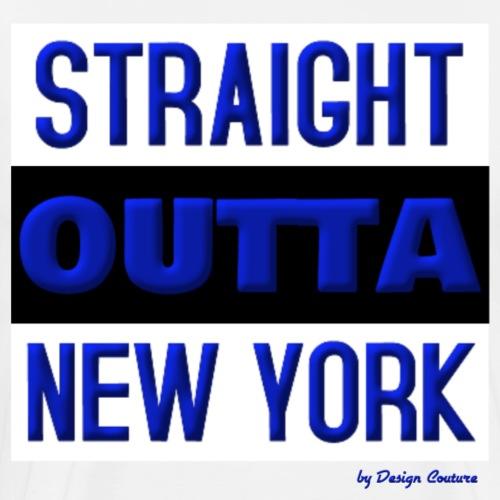 STRAIGHT OUTTA NEW YORK BLUE - Men's Premium T-Shirt