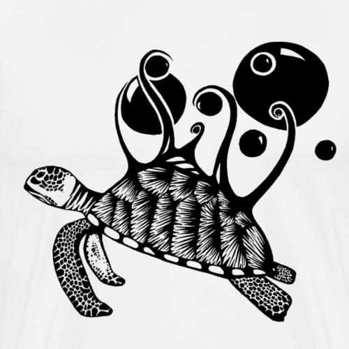 Bubbly Sea Turtle - Men's Premium T-Shirt