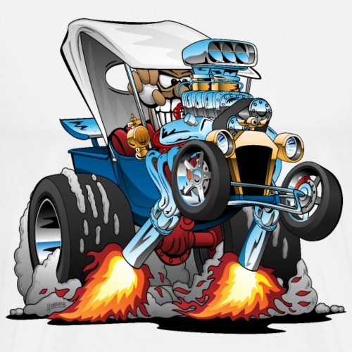 Custom T-bucket Roadster Hotrod Cartoon