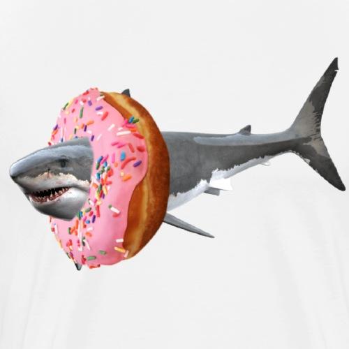 Donut Shark - Men's Premium T-Shirt