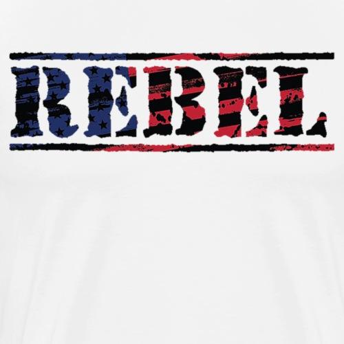 68ce825d378 Rebel Distorted Flag - Men s Premium T-Shirt