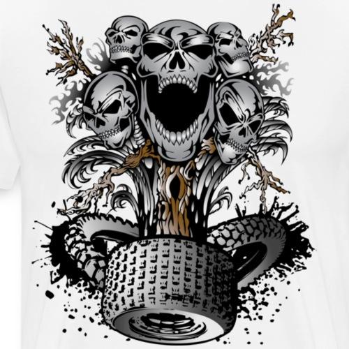 Off-Road Tire Skulltree - Men's Premium T-Shirt
