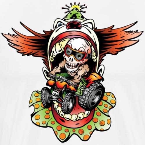 Clownin' Skully Quad Rider - Men's Premium T-Shirt