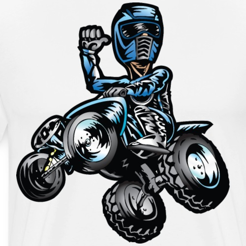 Blue Freestyle Quad - Men's Premium T-Shirt