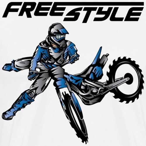 Yamaha Freestyle Dirt Biker - Men's Premium T-Shirt